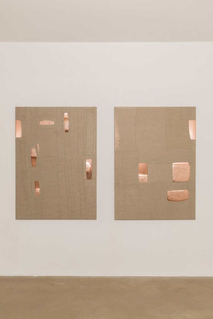 125x90 (x2) (Processed Copper and Stitched Linen)